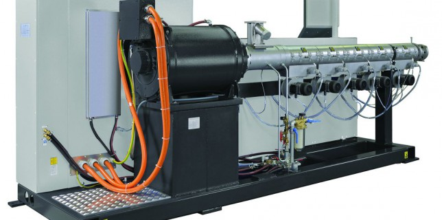 battenfeld-cincinnati single-screw extruder with torque motor (Photo: battenfeld-cincinnati)