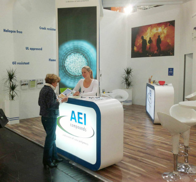 AEI Compounds launched their new look at the Wire 2012 exhibition in Düsseldorf (photo: AEI compounds)
